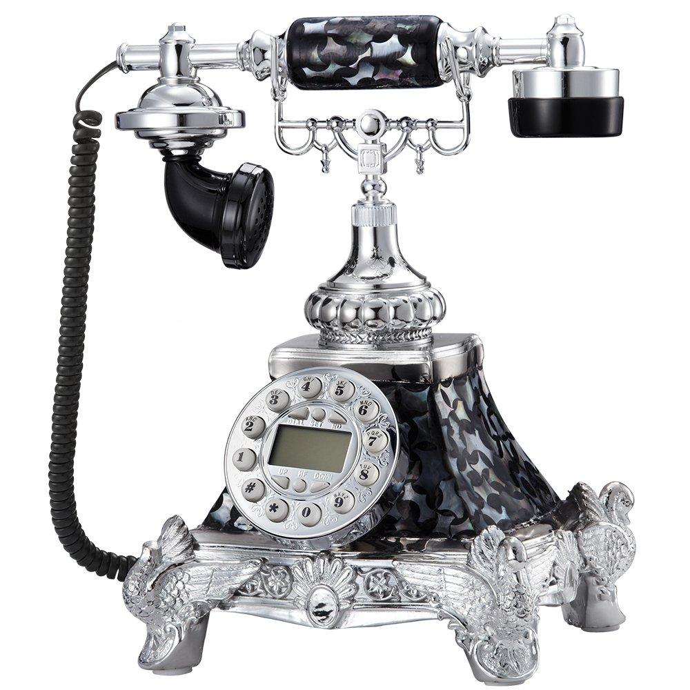佳话坊 仿古复古古董电话机高档贝壳电话机 欧式座机新款 家用