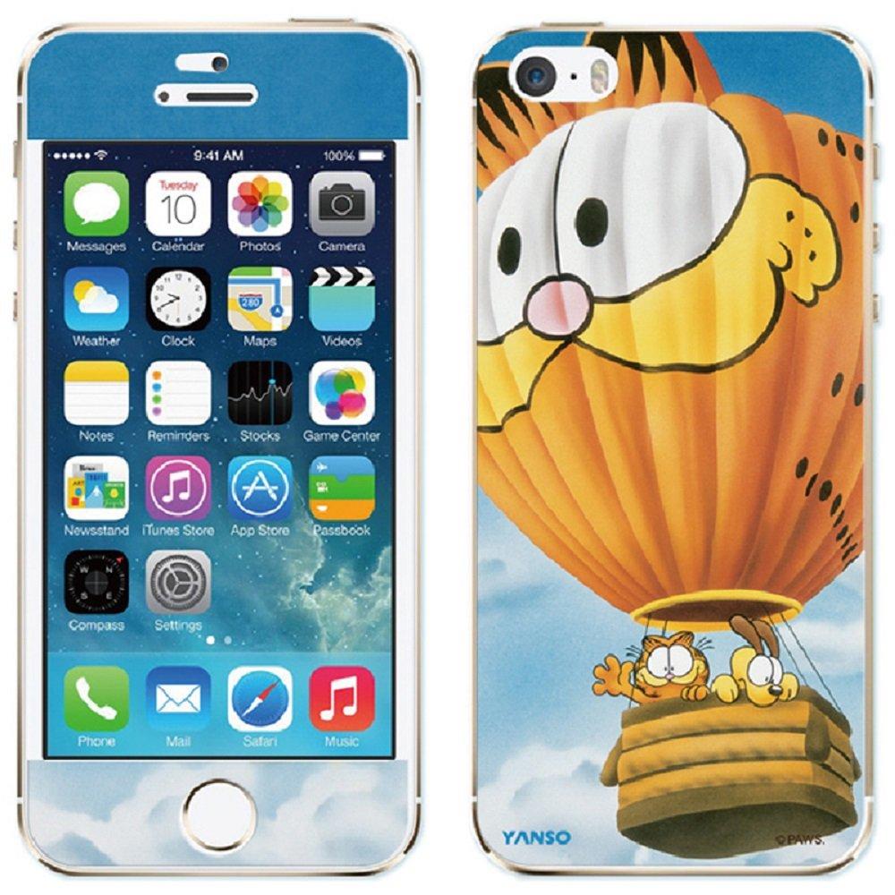加菲猫 iphone5s彩膜 双面苹果保护膜 卡通时尚浮雕磨砂贴膜纸 (热
