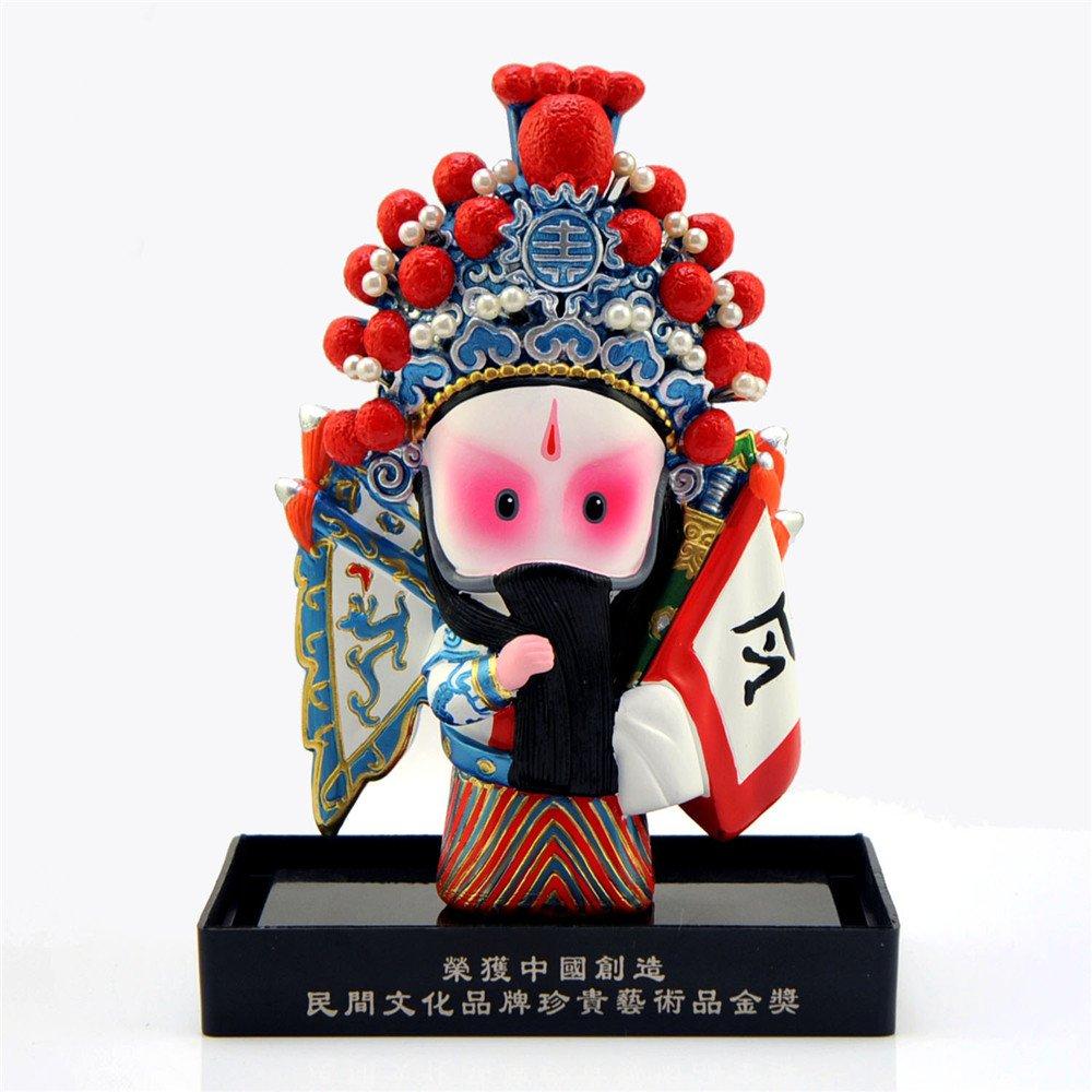 稻禾q版卡通京剧娃娃 创意装饰摆件 中国风商务外事出国礼品 穆桂英等图片