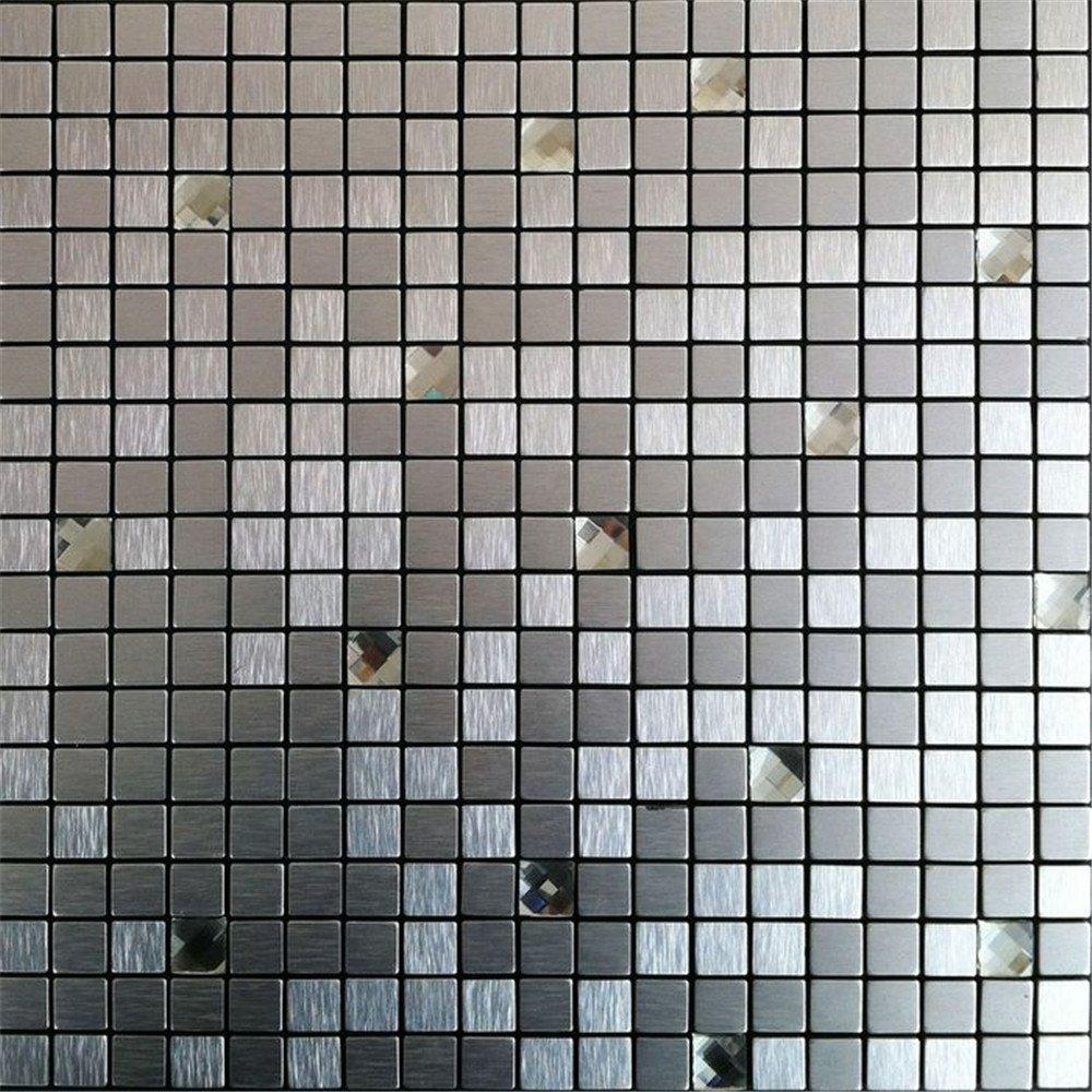5自贴铝塑板 钻银色马赛克背景墙 客厅玄关电视背景墙 形象墙 卫生间