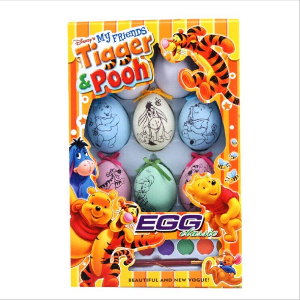 华丽都 diy儿童手绘 创意益智早教玩具 复活节8只装 蛋彩画 彩蛋画