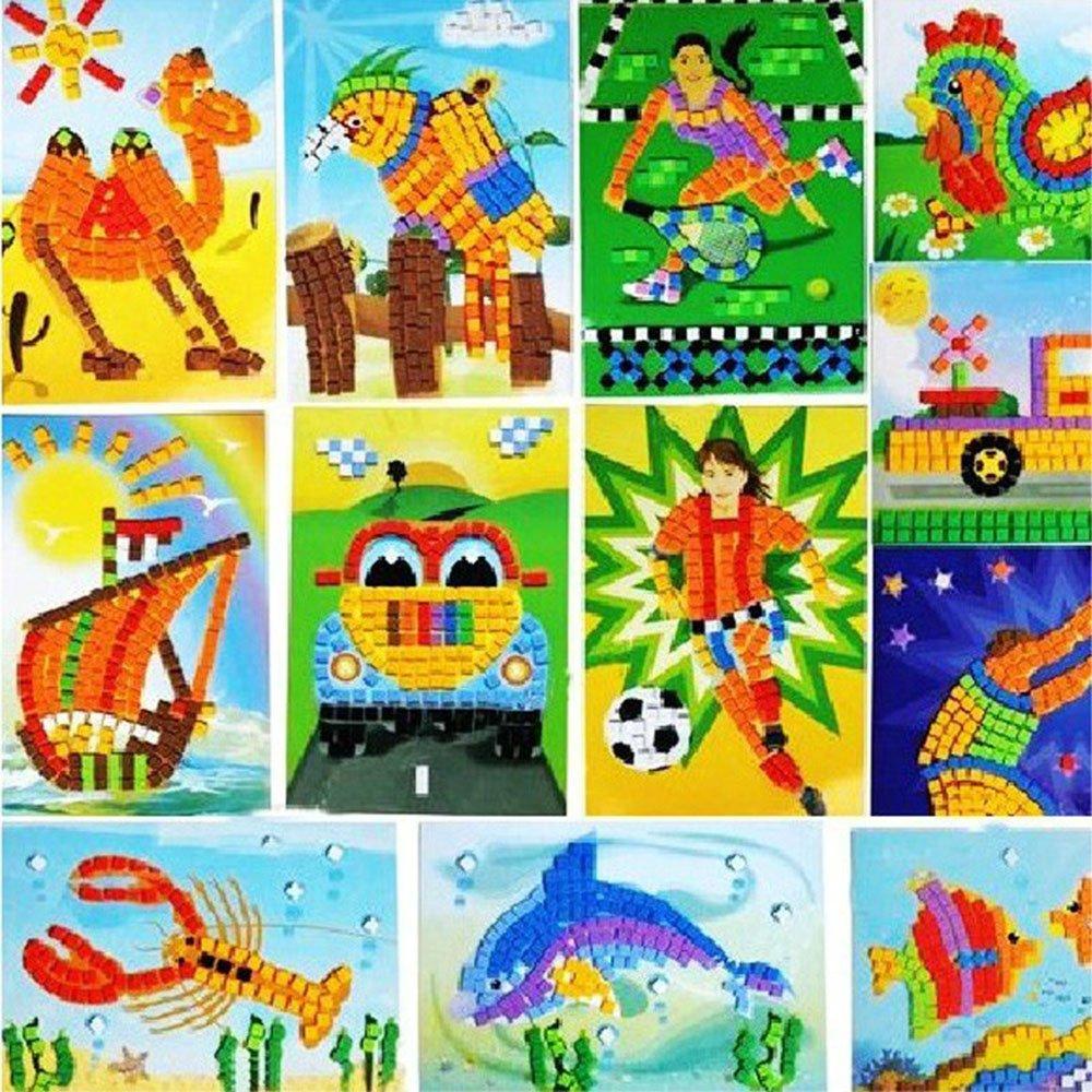 eva手工制作 eva马赛克粘贴画立体贴画儿童玩具diy玩具礼物益智diy