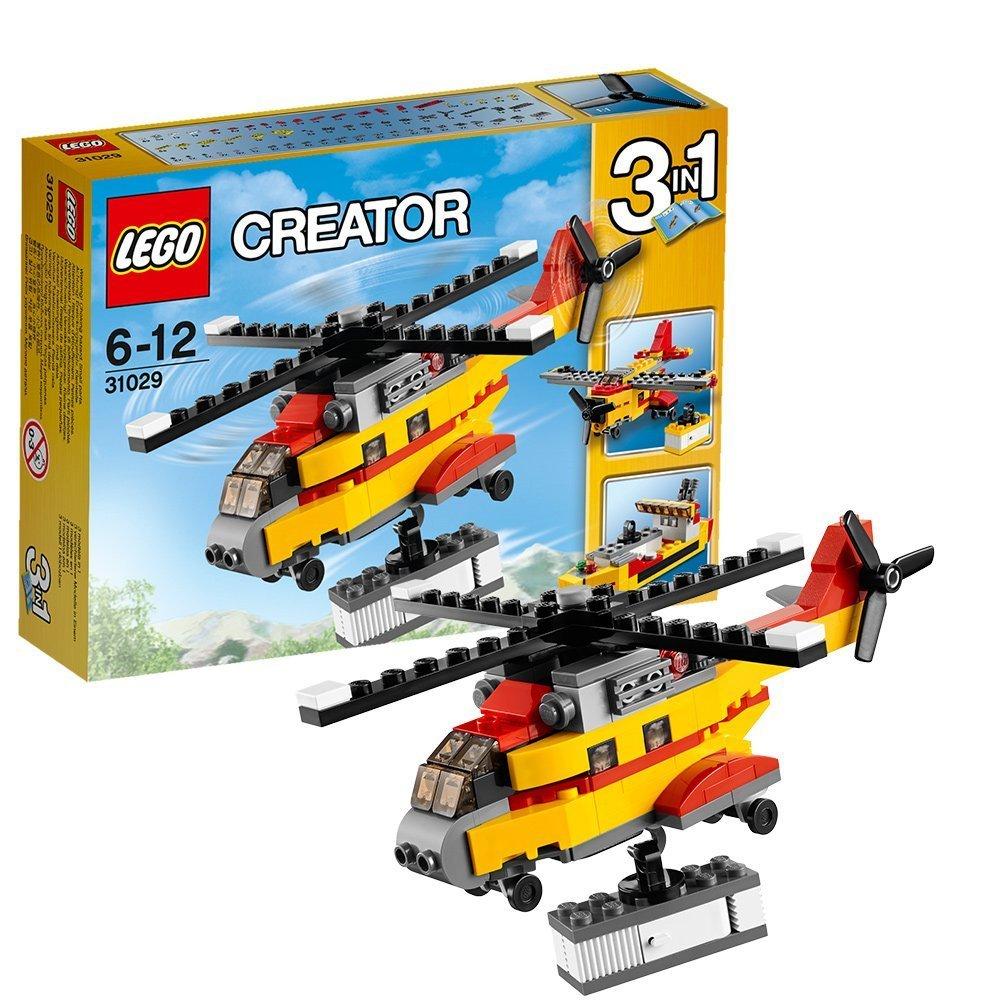 lego 乐高积木玩具创意三合一男孩拼装玩具 货物直升机31029