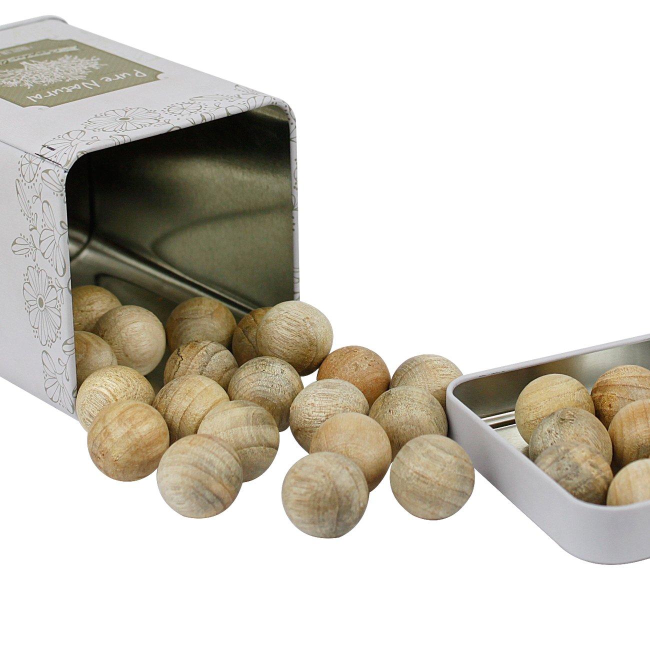 鑫冠 香樟木 百年红樟纯天然木球 60粒 替代樟脑丸 出口品质【享