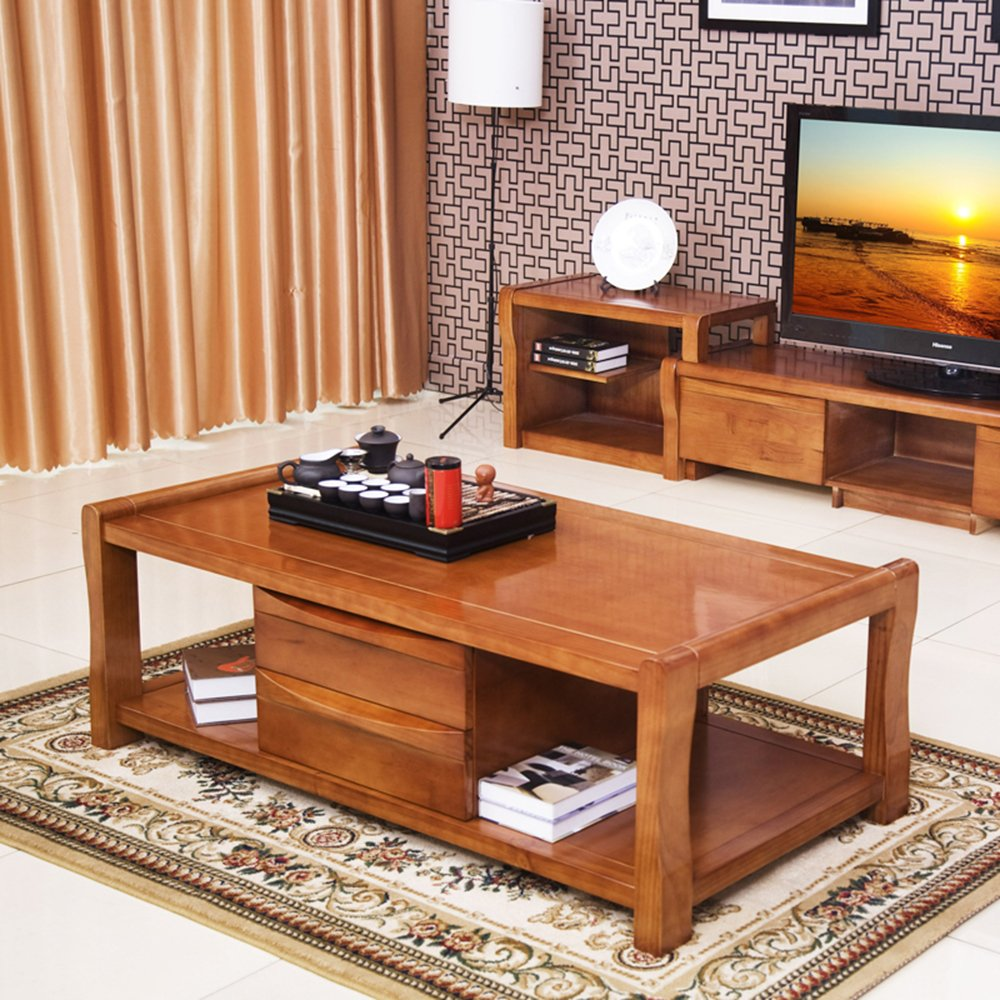 乐家 实木茶几现代中式纯实木橡木小茶几茶桌客厅家具