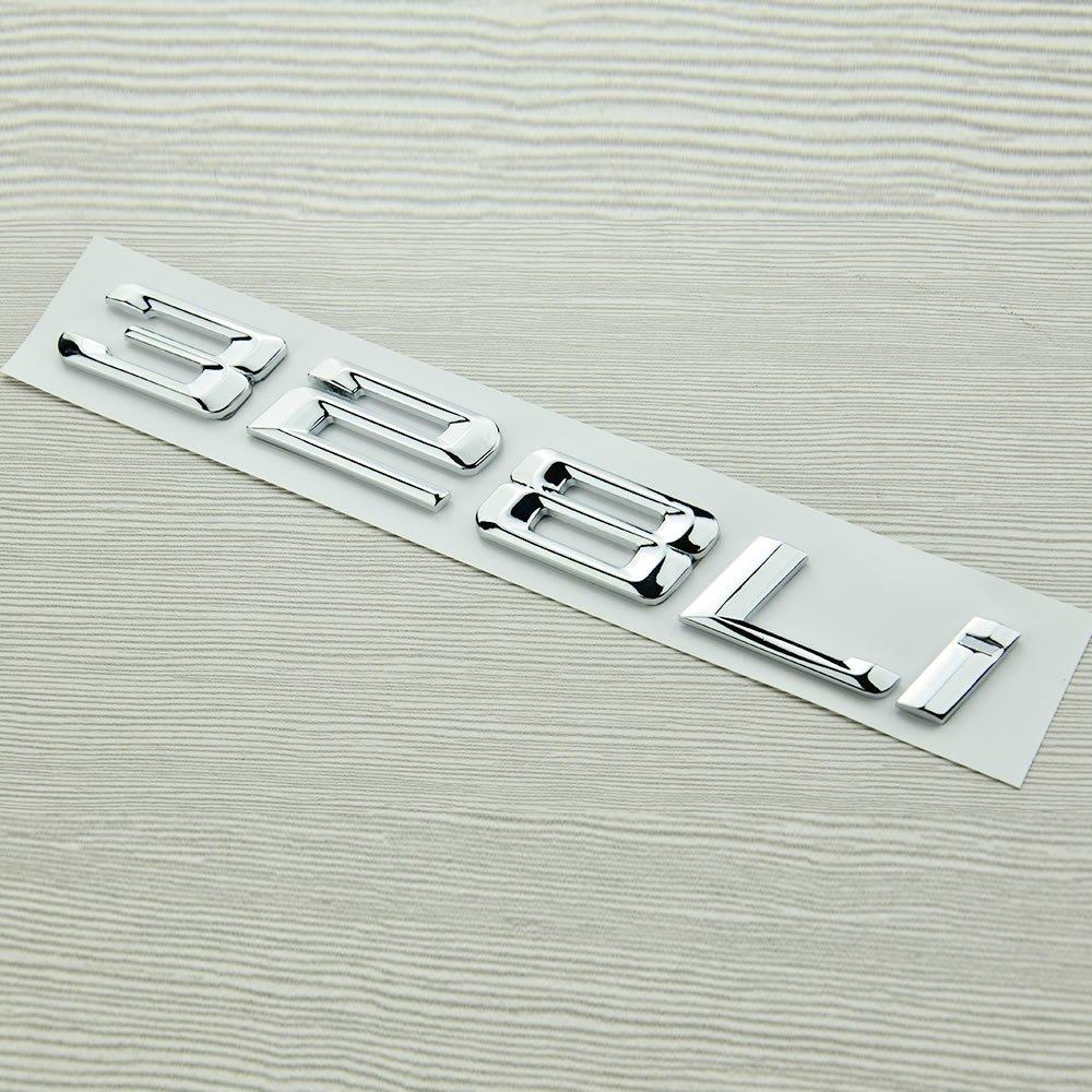 炫酷 宝马3系改装 325 328 330 335li 数字车标改装 装饰贴 排量数字