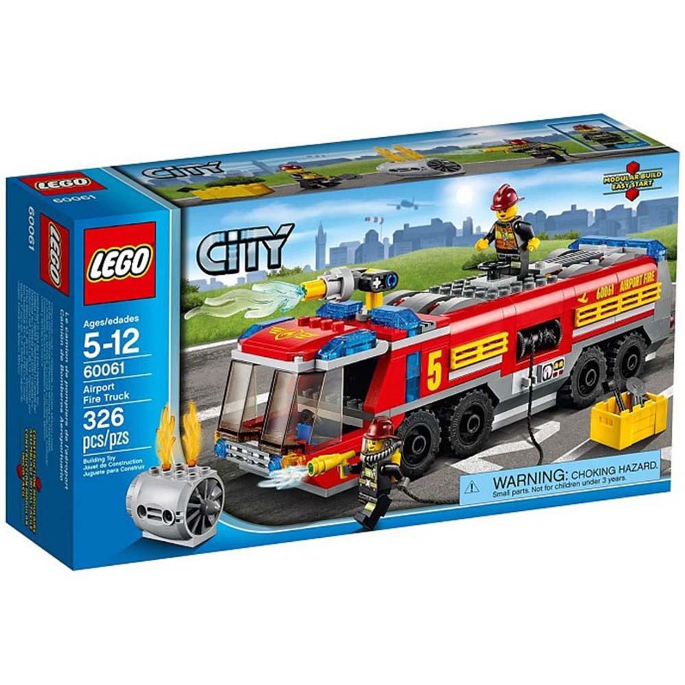 乐高玩具消防车图片