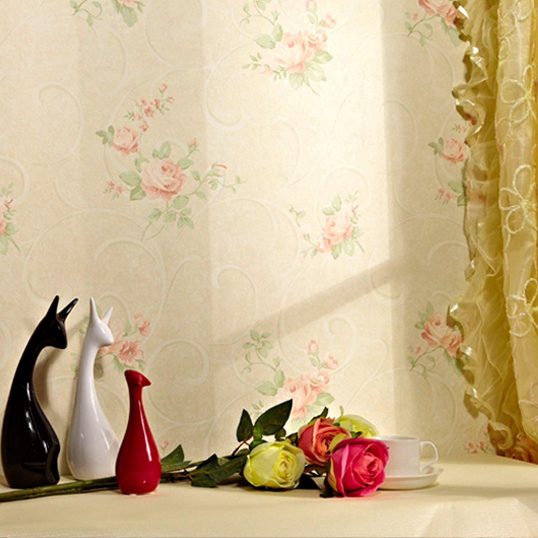 纸尚美学无纺布墙纸 欧式田园 ha33015彩铅手绘风格客厅卧室壁纸