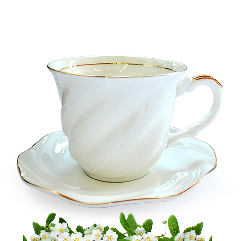 陶瓷茶具高贵白色咖啡杯套装欧式英式下午茶陶瓷茶具