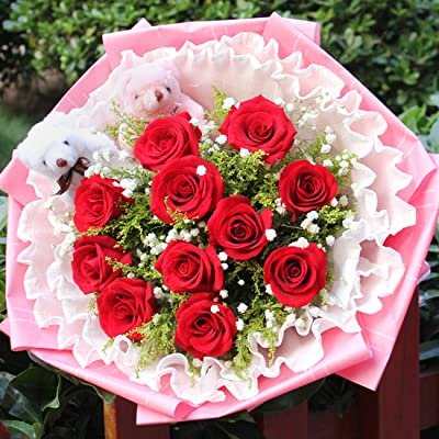 玫手绘瑰花图片