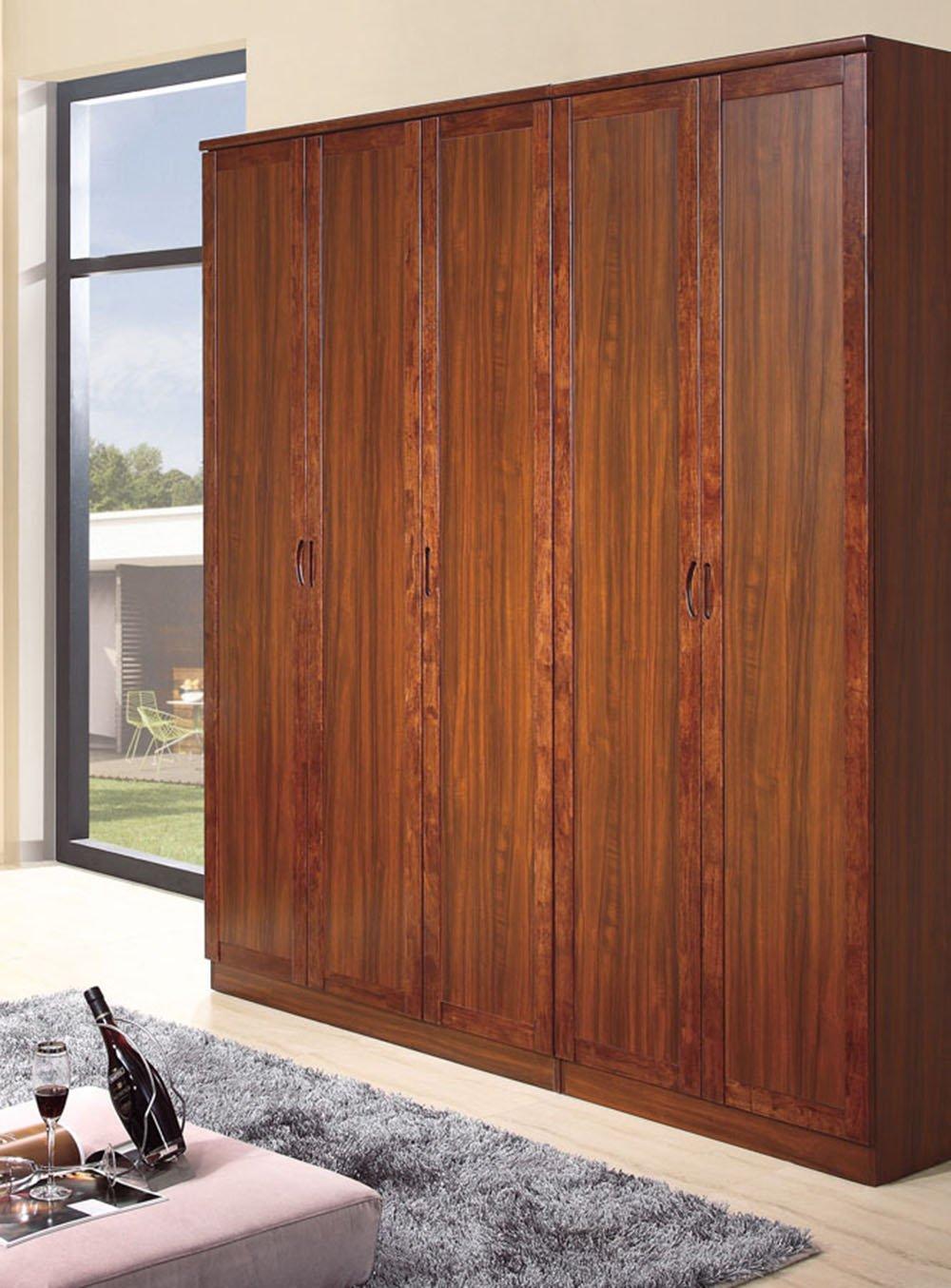御品工匠 简约现代衣柜 实木简易衣柜 宜家大衣柜k0213 乌金木色