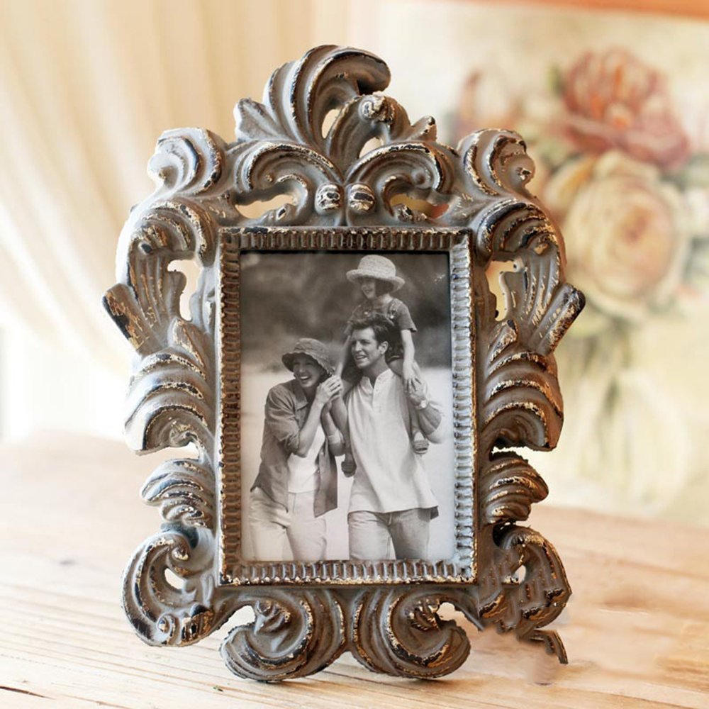 鱼西美屋 巴洛克复古相框 欧式创意婚纱照相片框树脂相架照片墙5寸图片