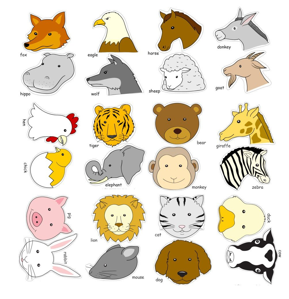 helloparty diy卡通动物头饰头带 24个动物