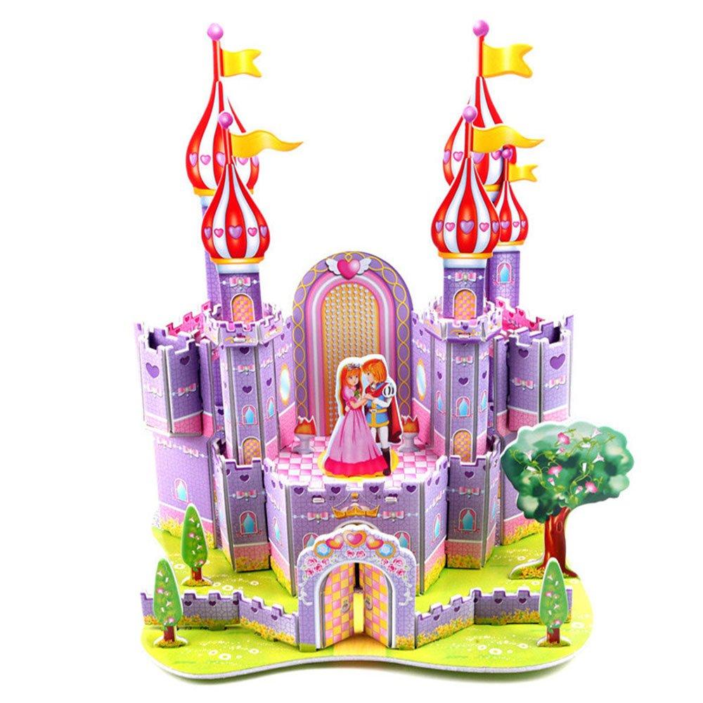 3d立体拼图儿童益智玩具 手工diy 幼儿智力纸质拼装拼插城堡小屋精美