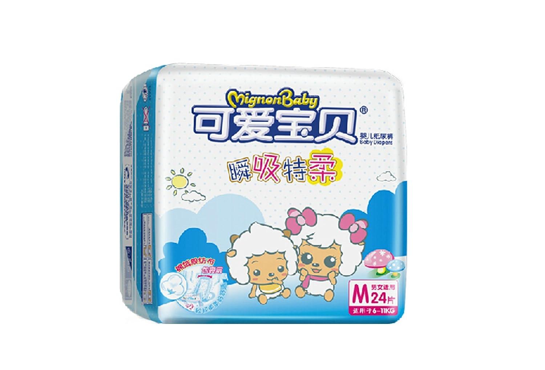 mignon baby 可爱宝贝 瞬吸特柔系列 尿不湿 带魔术贴纸尿裤 m 24片