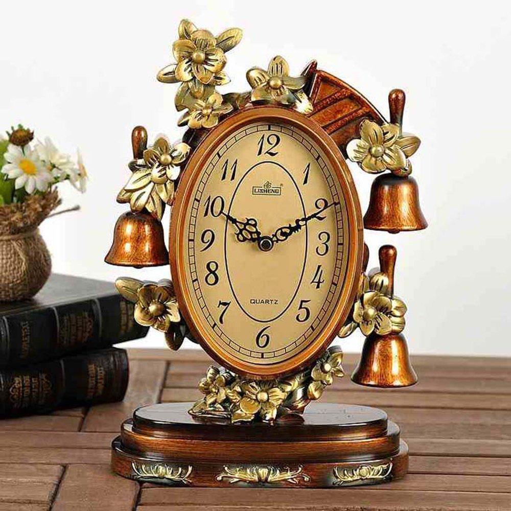 携爱 客厅办公室装饰品复古静音家居装饰欧式座钟客厅创意古典摆件