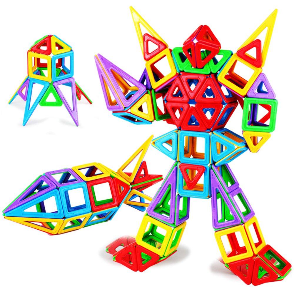 育儿宝积木片宠物玩具拼装积木益智图纸棒积木磁性迷你立体磁力小精灵立体图片