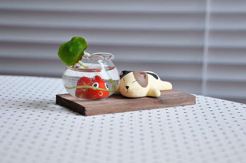 诺拉和皮埃诺 猫和小鱼 陶瓷工艺品家居摆件 时尚家居装饰礼品图片