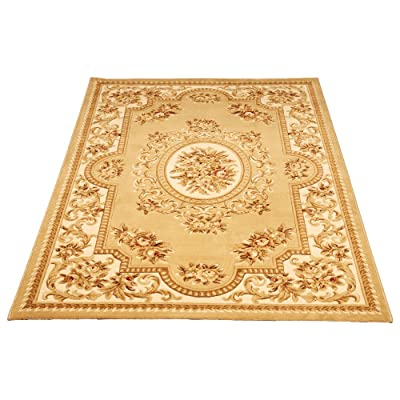 欧式花朵图案客厅茶几地毯卧室床边毯