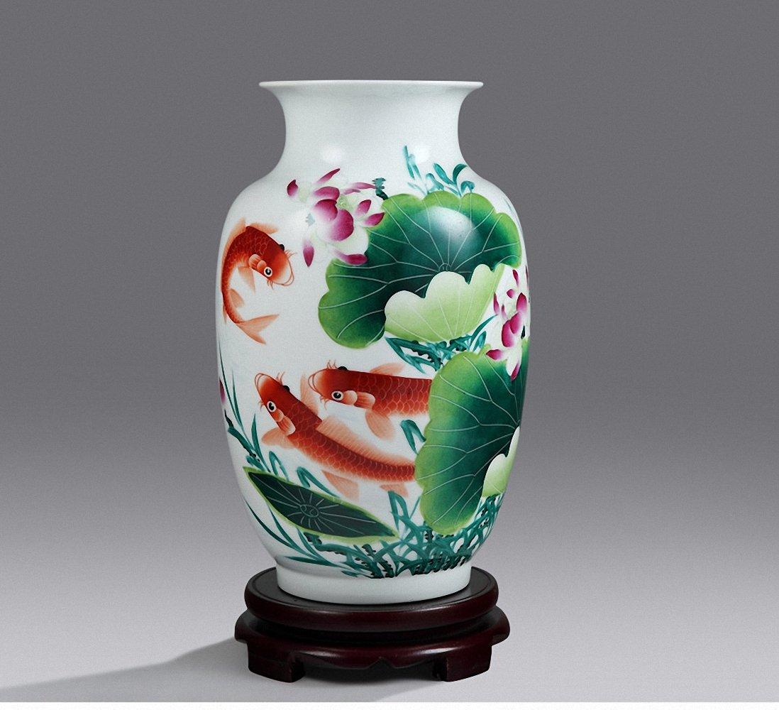 hy 恒焱 景德镇陶瓷大师手绘花瓶名人名家俞金喜 商务