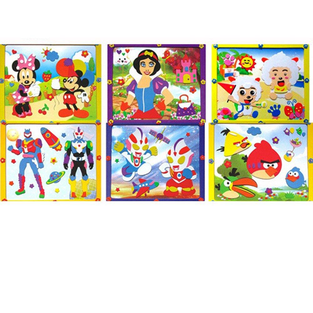 手工制作立体贴画diy贴画创意粘贴3d立体艺术画系列粘贴画玩具相框