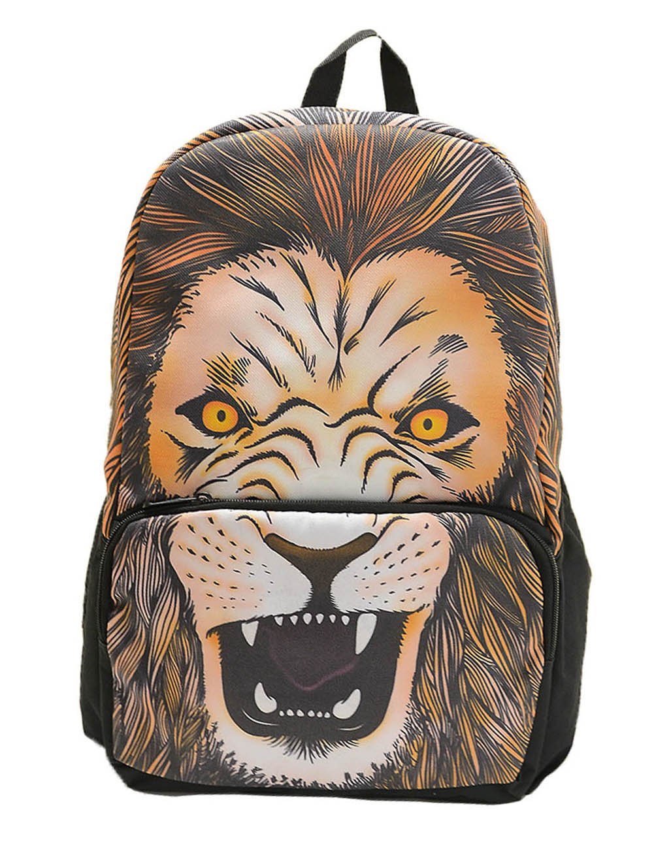 玛格瑞特 时尚个性狂野虎头双肩包休闲包学生包 m131003 老虎图片