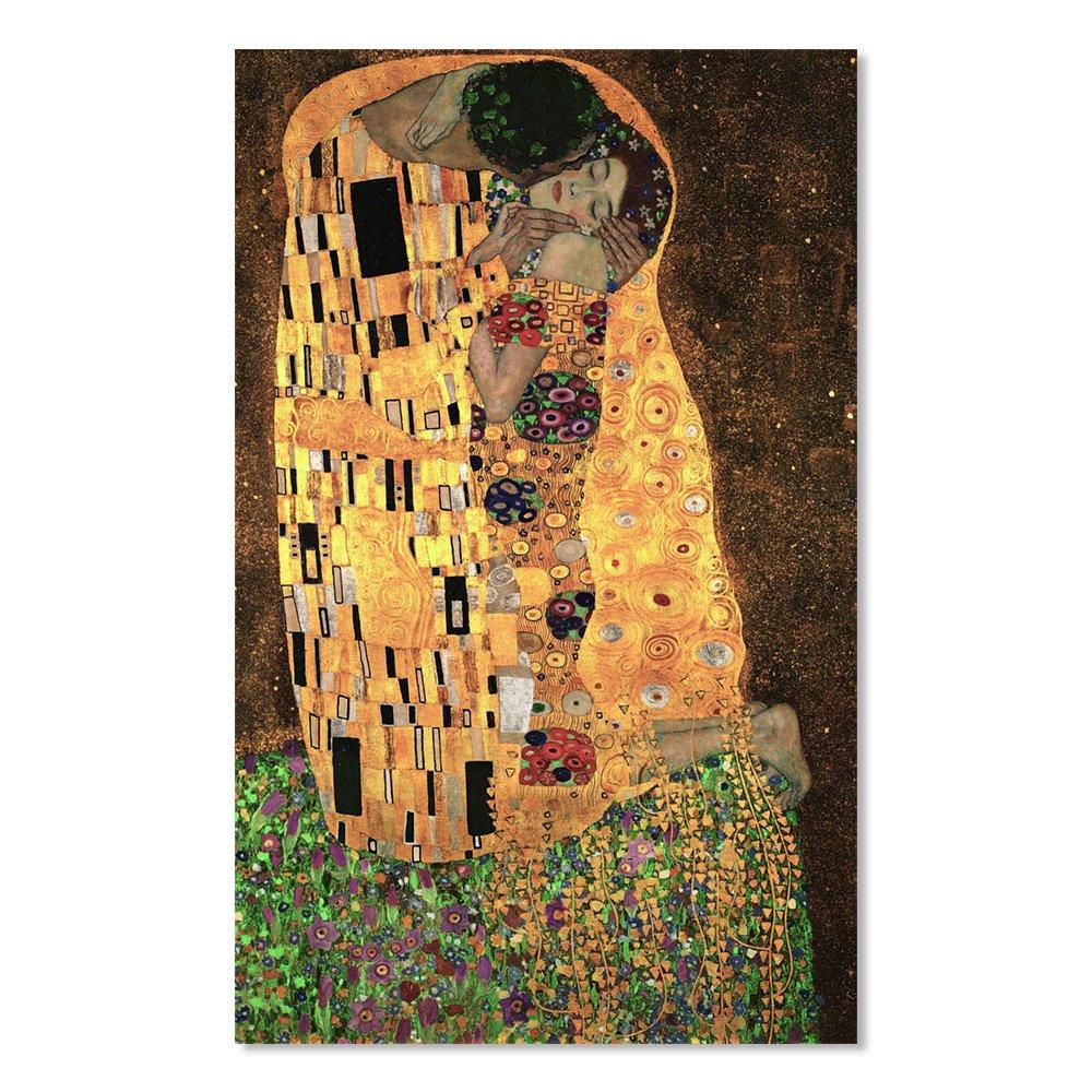 汇艺映画 大师系列 吻 克林姆特 现代客厅装饰画壁画卧室挂画家居无框