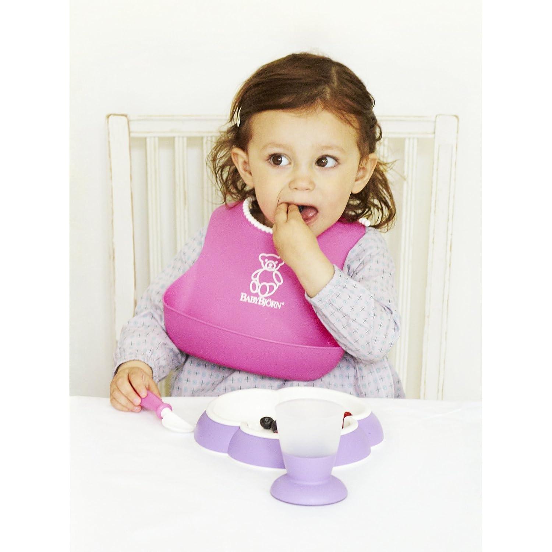 瑞典制造,BABYBJORN Plate and Spoon 三叶草型宝宝餐盘和汤匙套装¥168.22