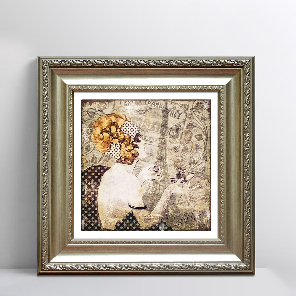 天海画艺 高档客厅装饰画欧式美式卧室餐厅壁画挂画二图片
