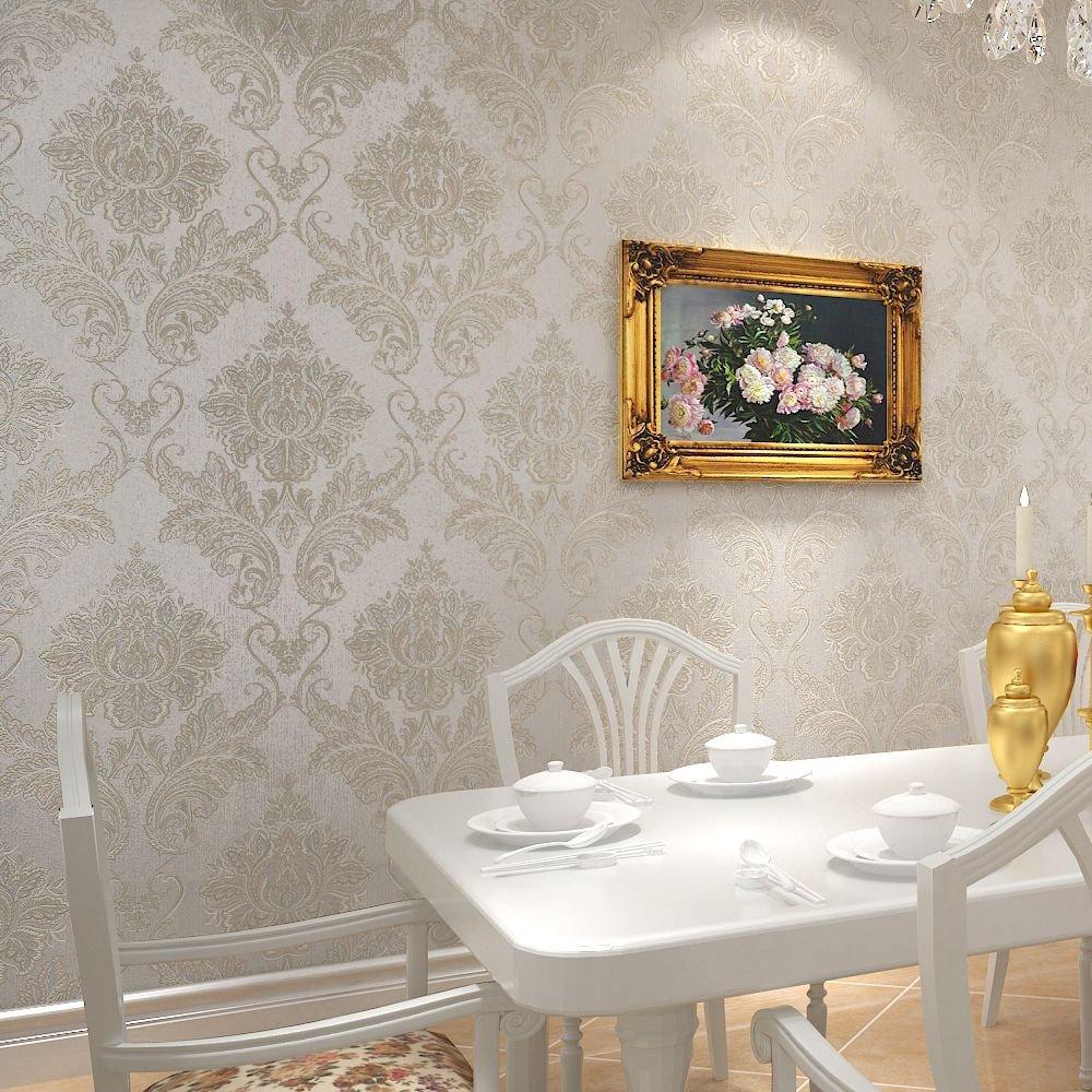 睐可 墙纸 欧式经典时尚大气大马士革卧室客厅书房餐厅百搭壁纸32l