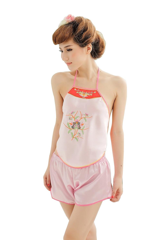 九色生活 情趣内衣 制服诱惑性感女士肚兜 可爱甜美复古粉色高贵情趣