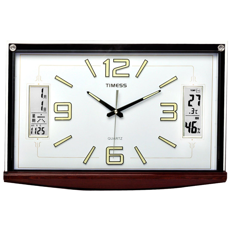 timess 26英寸长方形超大创意客厅会议室餐厅超静音豪华挂钟 t2090图片