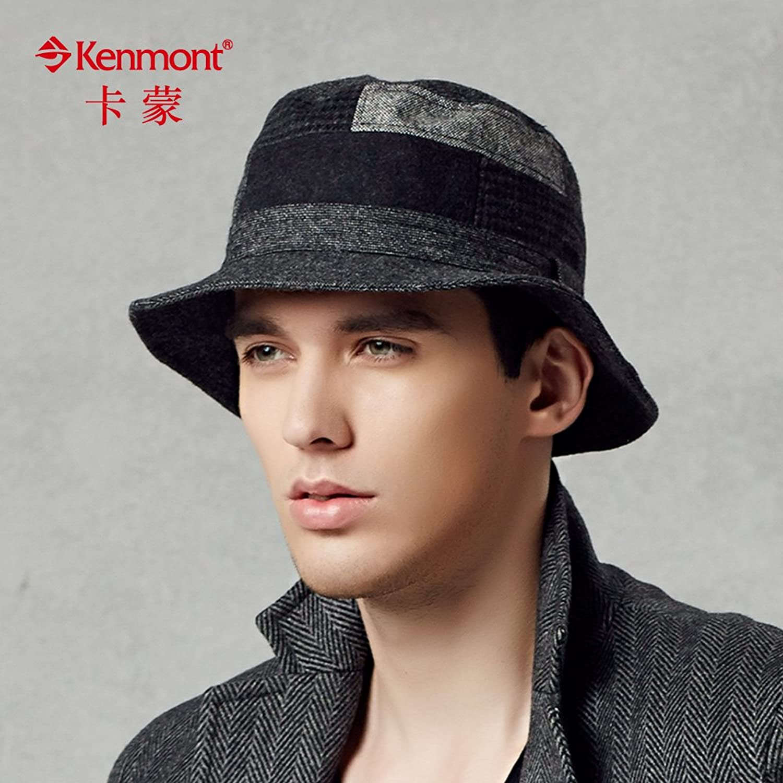 kenmont凯蒙特秋冬帽子 男士毛呢帽子 英伦复古盆帽 男帽冬季潮帽