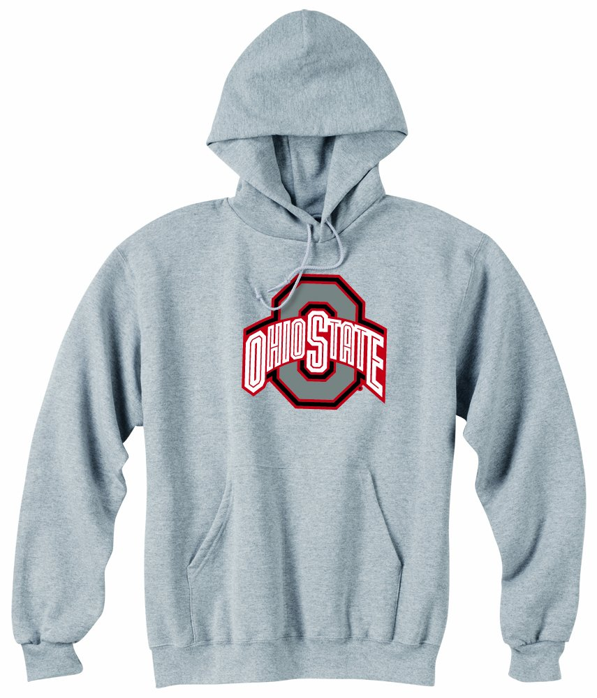 ncaa ohio state buckeyes powerblend hood, grey, large
