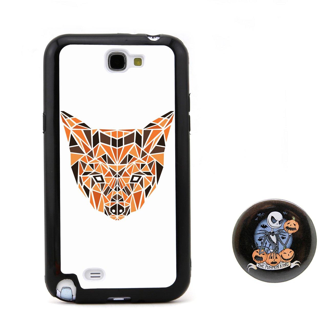 狗3d多边形动物头像浮雕设计风格 塑料 tpu手机壳 手机套 适用于 sams