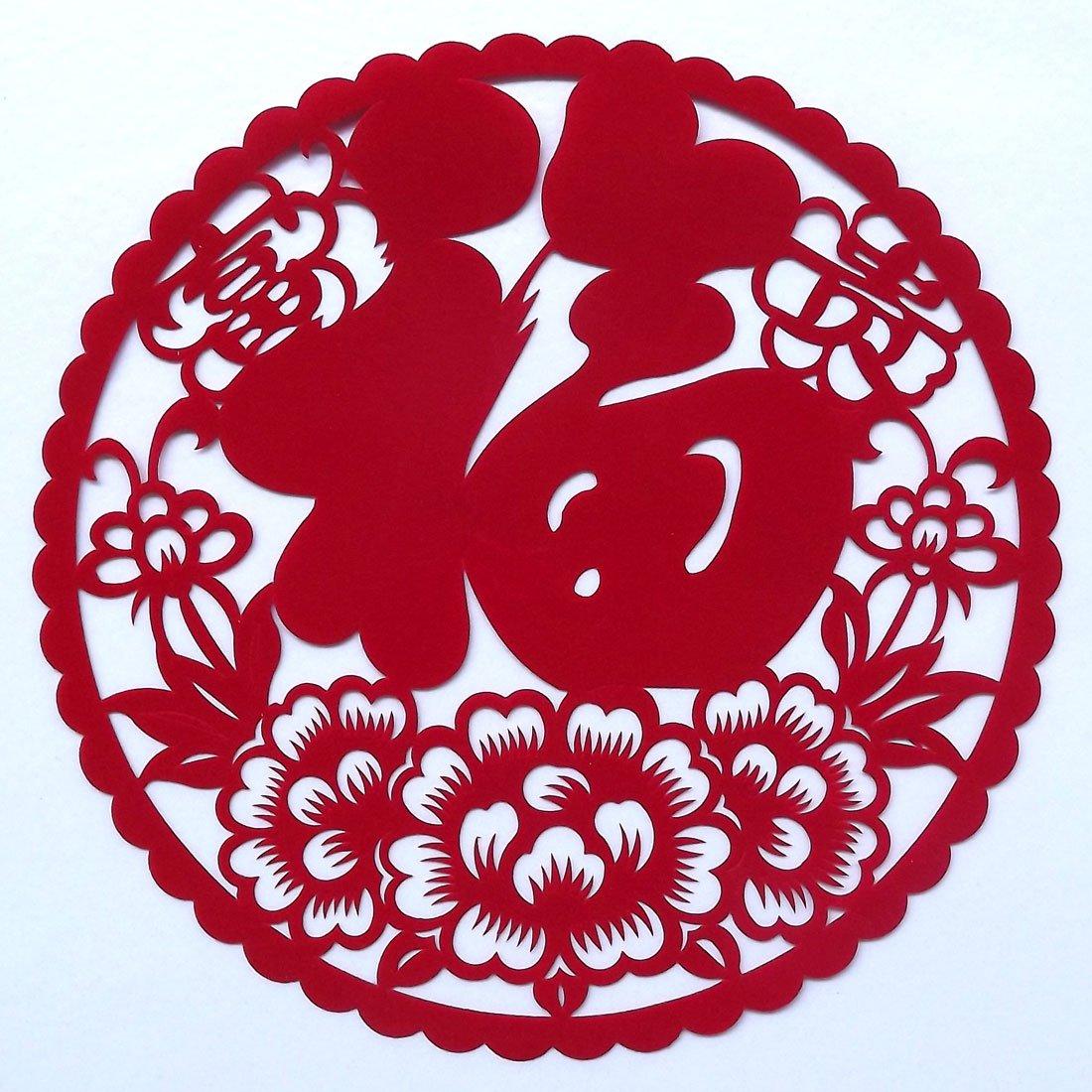 富贵福 年画对联剪纸元旦新年装饰门神年会门贴中国现代剪纸墙贴窗花