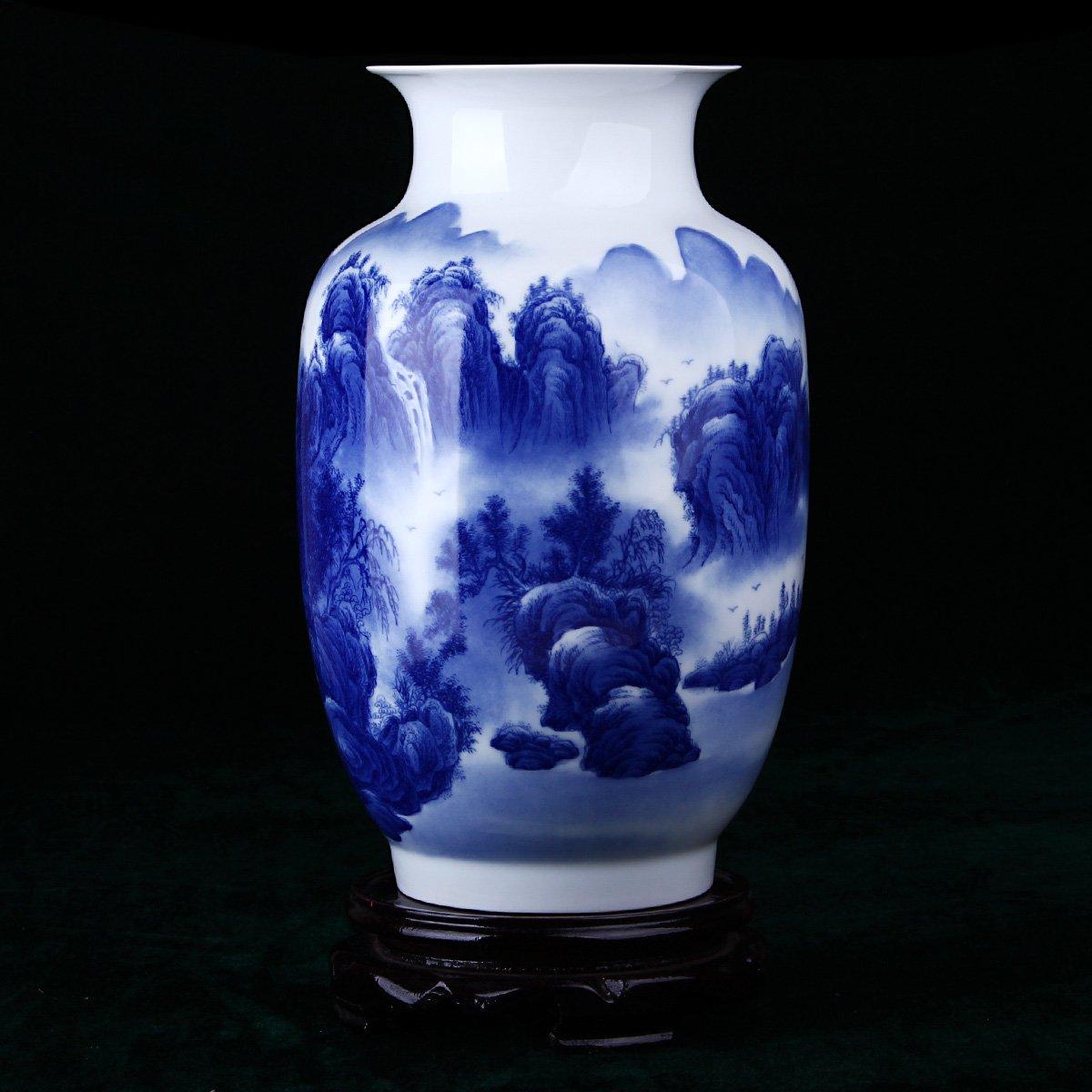 景德镇陶瓷手绘青花瓷花瓶