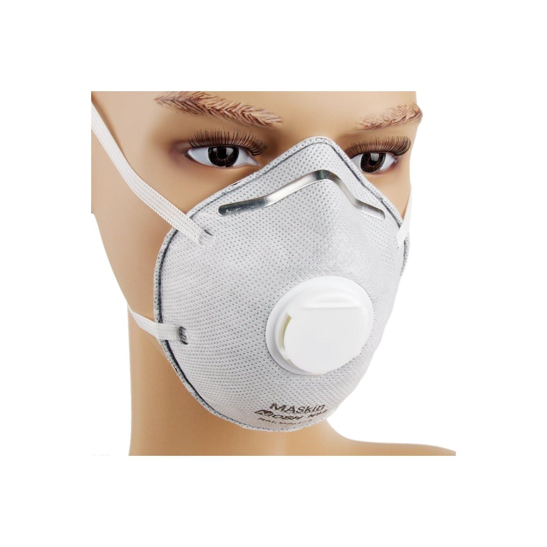 MASkin 617510 活性炭+呼气阀型 头戴式 杯型防护口罩 10只装 (美标N95级 去除PM2.5粒子) 69元包邮