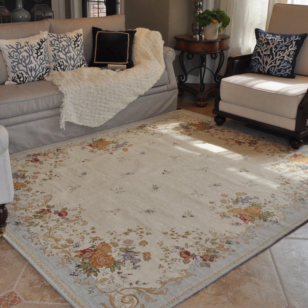 地毯 客厅 欧式地毯 卧室 床边地毯地垫 清新浪漫地中海 淡蓝 2000mm