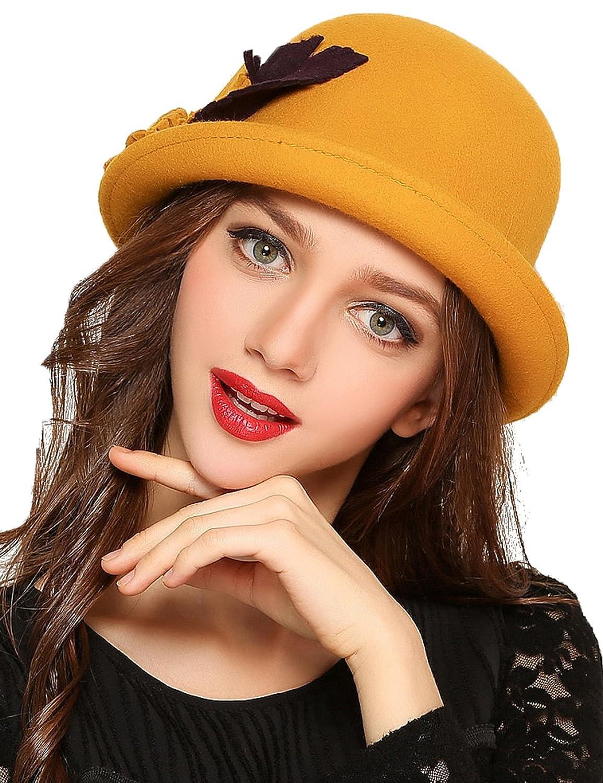女士帽子-黄色礼帽