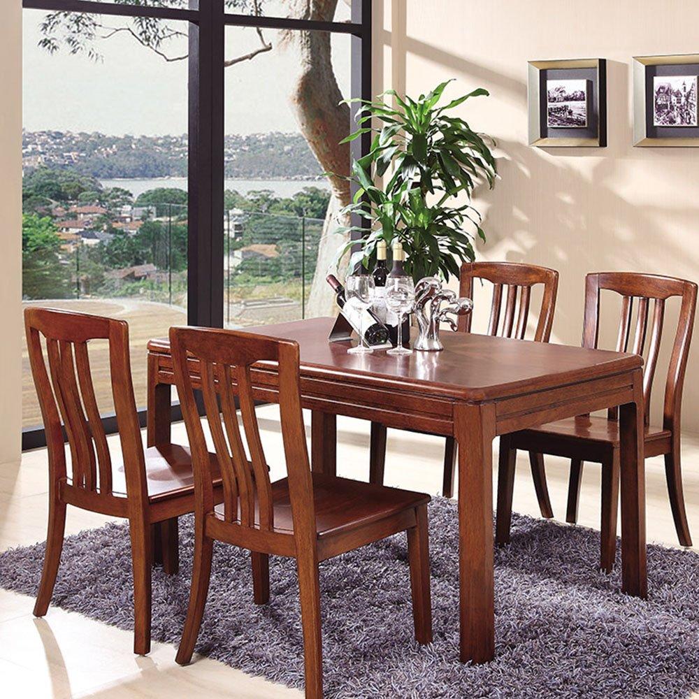 御品工匠 实木餐桌餐椅组合高端中式乌金木色餐厅家具