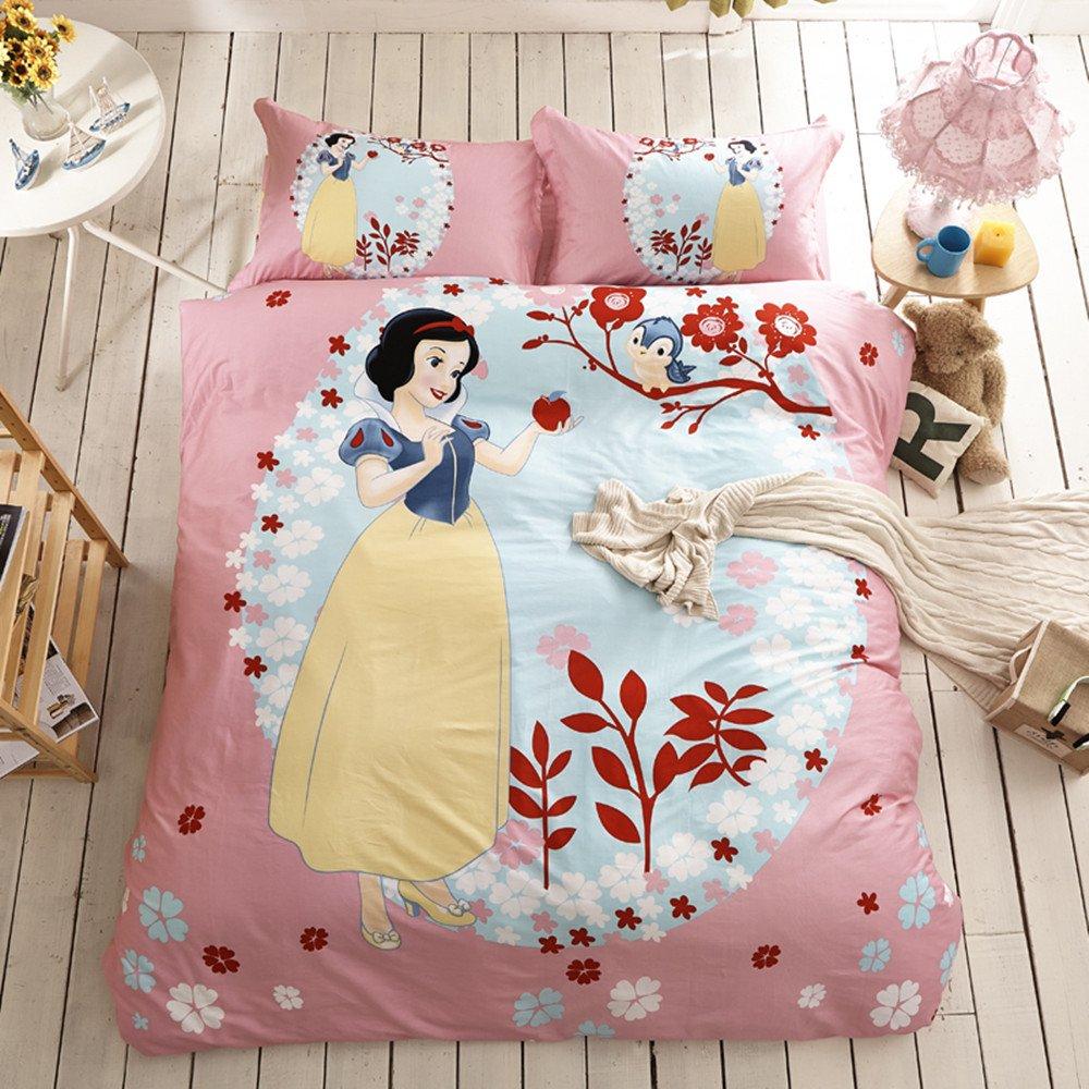 三件套儿童床上用品被套家纺四件套男孩女孩床单床笠款可爱公主床品
