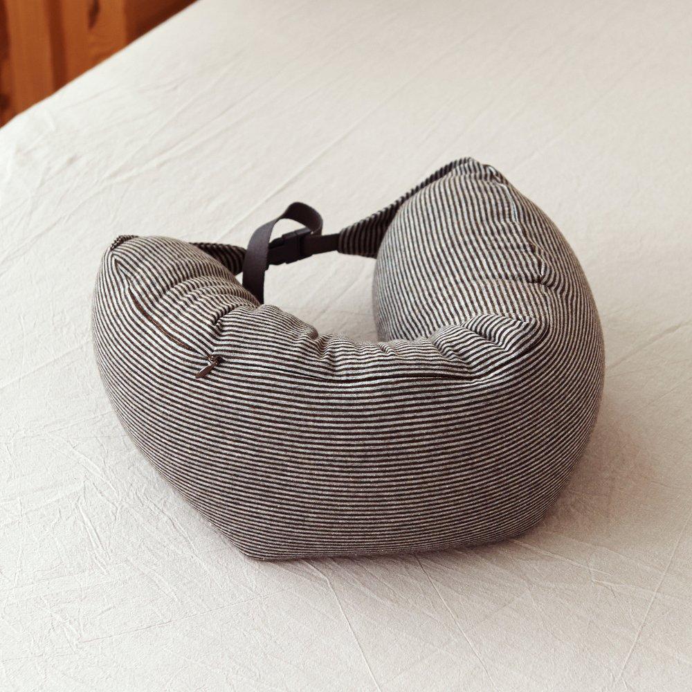 牧者家居 针织棉微粒子舒适贴合u型靠枕 飞机枕 旅行枕 u型枕头 枕芯