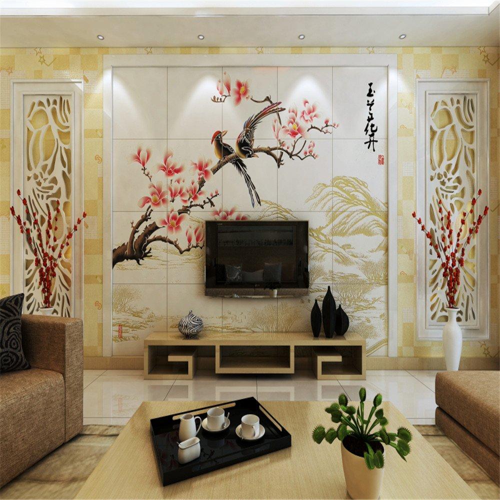 君昊 客厅 电视沙发 石材 壁画 背景墙 (全抛釉彩雕)
