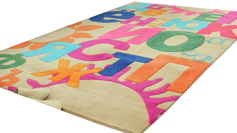 腈纶印花系列地毯防霉防蛀客厅卧室茶几床边儿童房卡通地毯 彩虹字母