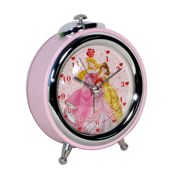 disney 迪士尼 学生闹钟 书房儿童房装饰钟表 公主静音闹钟 中号 fd