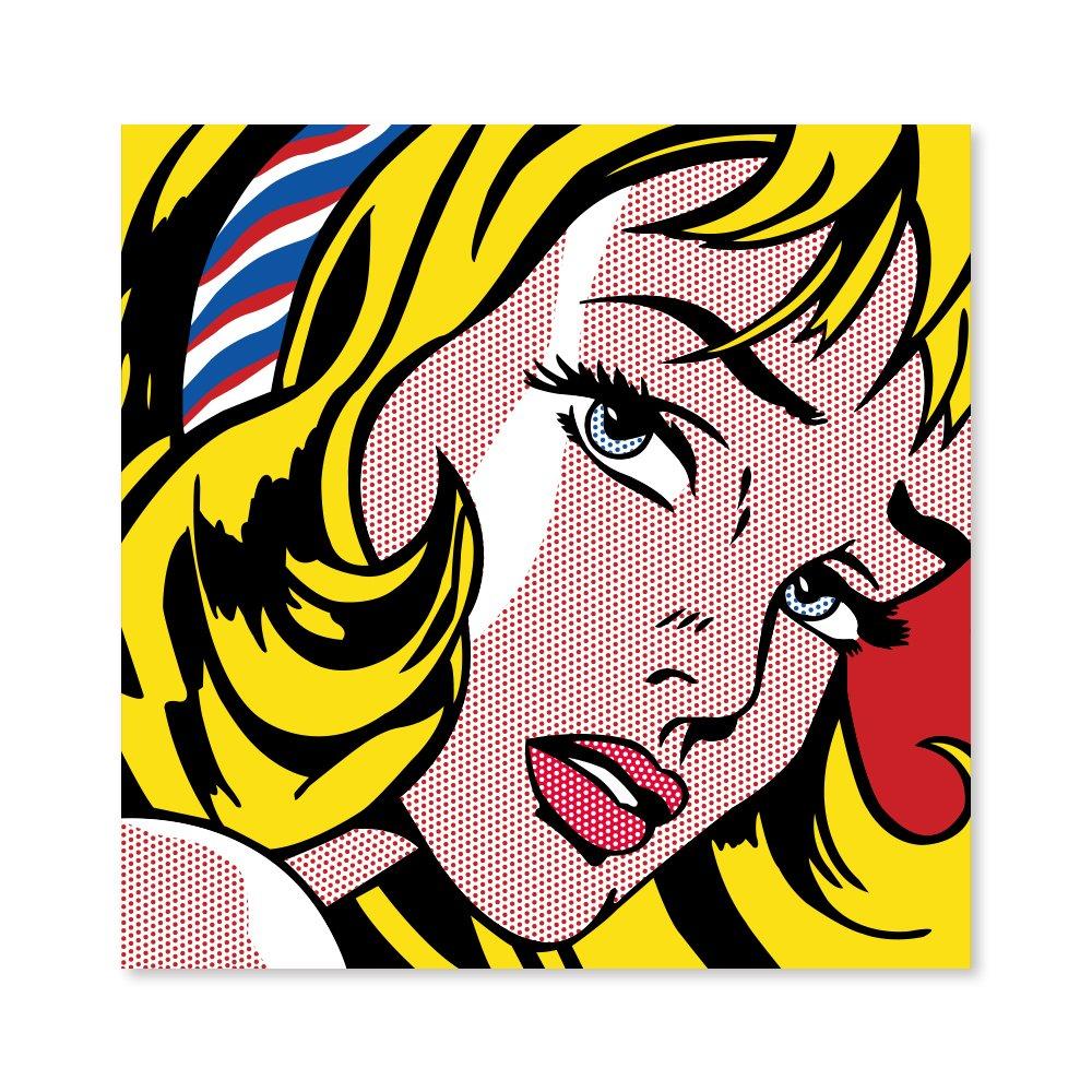 汇艺映画 波普系列 发带女孩 现代客厅装饰画壁画卧室
