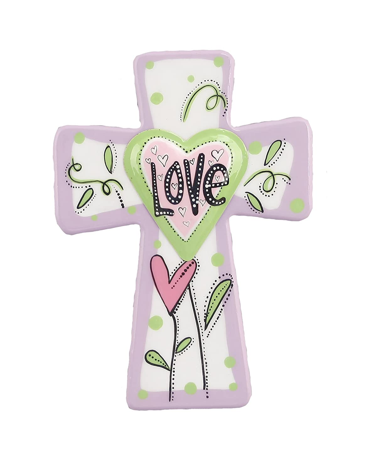 Young's 11560 Wood Love Cross Wall Hanging Sign, 11.75-Inch-家居-亚马逊中国-海外购 美亚直邮