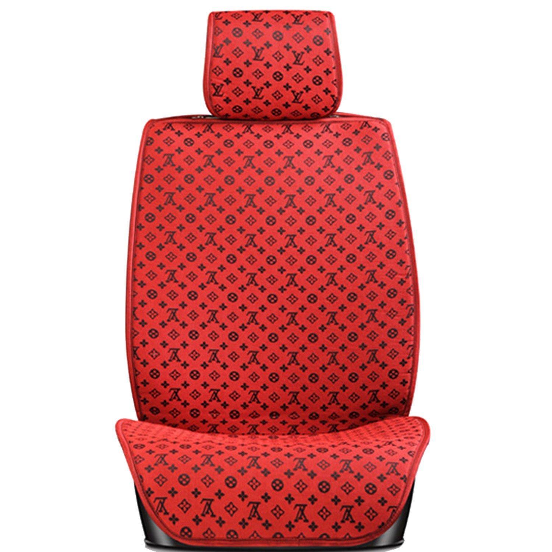 宇乐 新款汽车座垫套 可爱 时尚 lv图案 夏凉垫 5座汽车坐垫 座椅保护