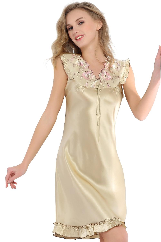 kolgofi 卡歌菲 新款100%桑蚕丝真丝女士绣花可爱公主风v领情趣服装